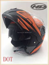 HD custom new DOT flip up helmets motorcycle with dual visor HD-701