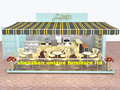 Shipping container outdoor food coffee kiosk design