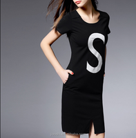 Spring and summer short sleeve T shirt plus size fashion design young girl dress