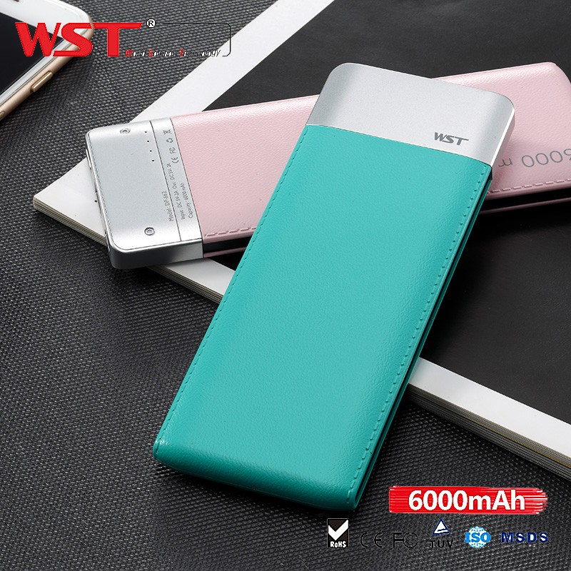 New Year 2016 Gift Travel Mobile ABS 6000mah Wholesale Instant Mobile Phone Charger