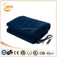 Hot Sale Coral Fleece Car Electric Thermal Heated Blanket 24V with Cigarette Lighter Plug