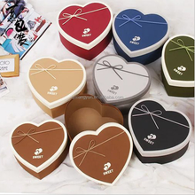 Factory direct Octavia paper two piece heart-shaped round flower box gift box wholesale fresh floral bouquet soap flower box