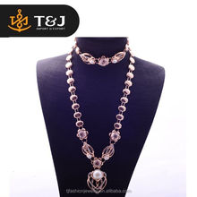///2016 Dubai Jewelry Necklace Gold Plated Flower Big Pearl Necklace & Bracelet & Earring & Ring For Women Jewelry