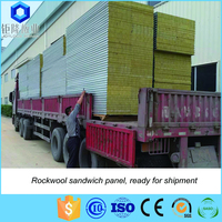 Rock wool sandwich panel for wall and ceiling with Grade A fireproof