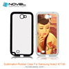 customized sublimation rubber cell phone cases for samsung note 2