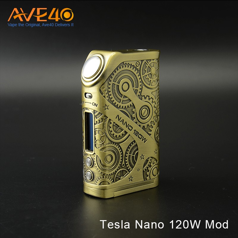 Exclusive Electronic Cigarette Tesla Nano 120w Box Mod from Ave40 in Wholesale Price