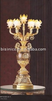 bronze floor lamp, glass lamp