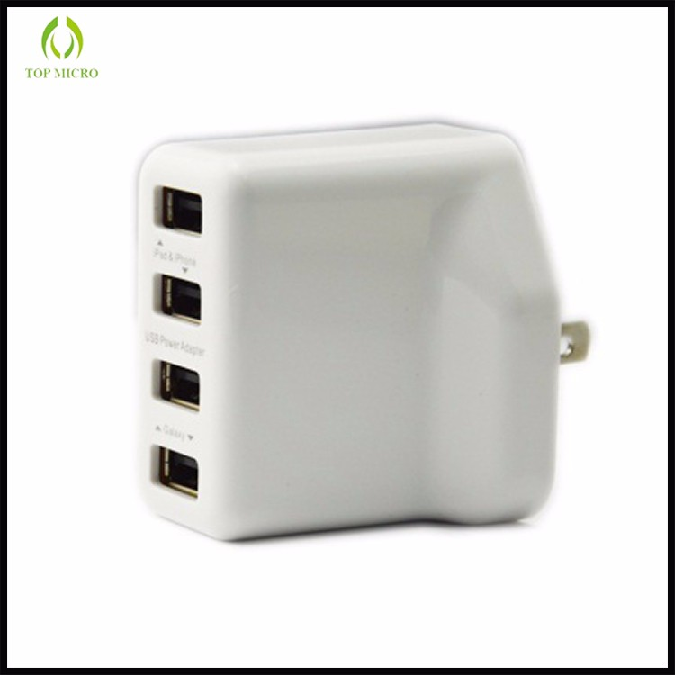 Wholesales 3.1A Multi USB Adapter With US/UK/EU Socket Travel Wall Charger