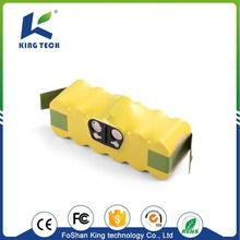 Replacement Battery 14.4v 2500mAh 36Wh Rechargeable ni-mh battery pack for irobot roomba vacuum cleaner