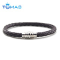 High quality bracelet with magnetic clasp,mens leather bio magnetic bracelet