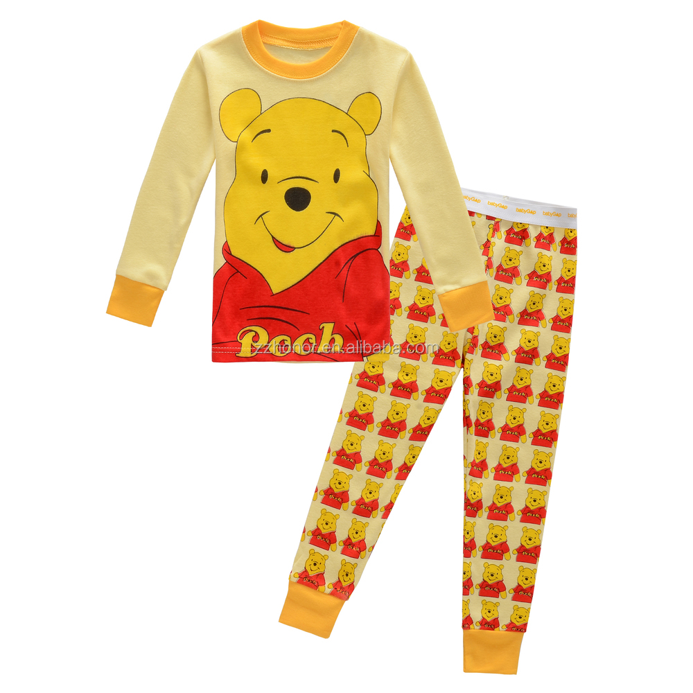 Cute children pyjamas, 100% cotton kid's sleep wear, loungewear for kids