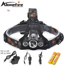AloneFire HP98 8000Lm Multifunction 4Mode Head Lamp Bead T6+2R5 LED Headlamp Headlight Camping Light Flashlight Torch