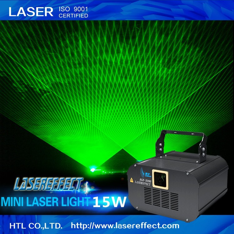 15W green mini laser light indoor laser light show