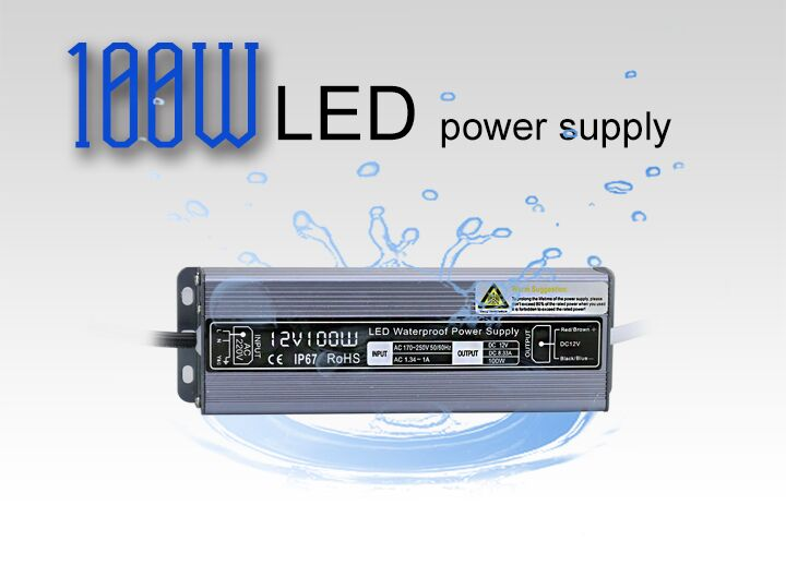 Good quality Waterproof 60w 100w IP67 led power supply led driver for led strip lighting