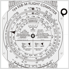 CYA Brand metal flight computer Aviation plotter E6B for pilot training #E6B-M