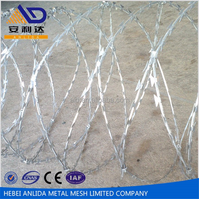 2016 Low Price High Quality Razor barbed wire factory direct sell exported to Africa South America