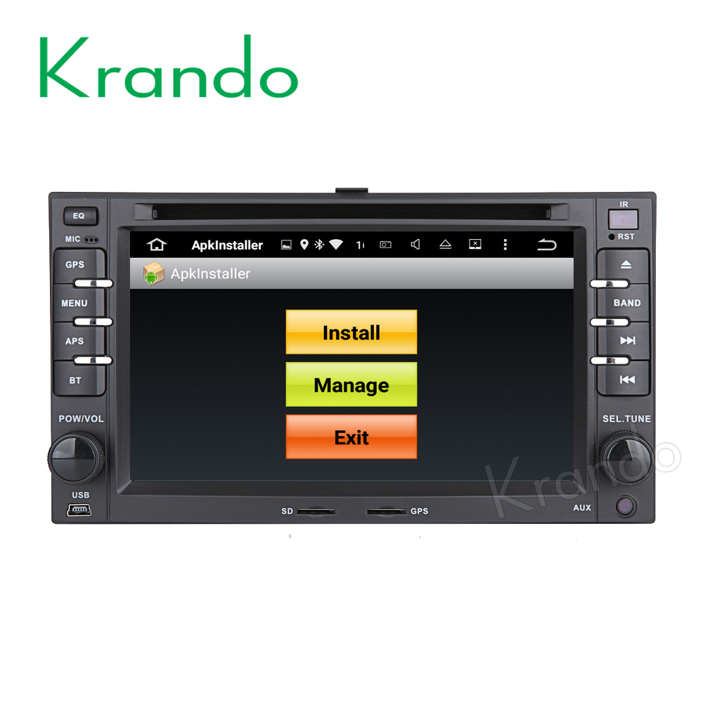 Krando Android 7.1 car multimedia system for kia Cerato Sportage Sedona CARENS navigation radio gps DVD player KD-KU621
