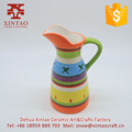 Colorful porcelain oem Dehua factory tea coffee small ceramic milk pot with handle