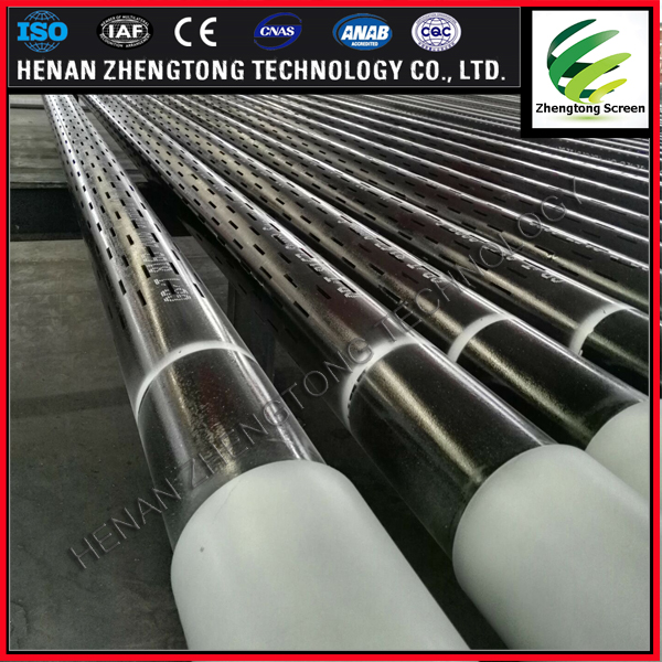 alibaba shop bridge slot type water well screen slotted pipe