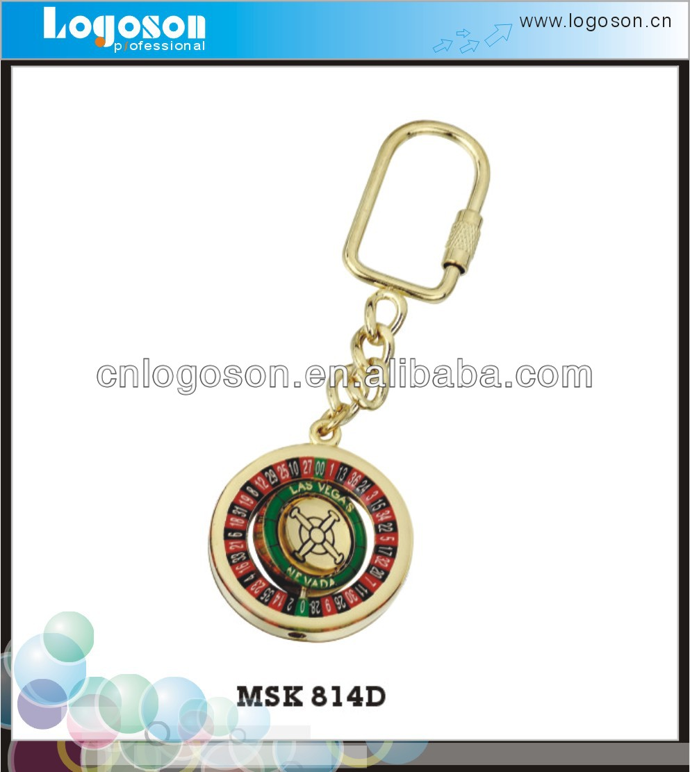 Promotion metal spinning ball and chain keyring