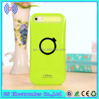 IGlow TPU+PC Cover Skin Circle Stand Luminous Case for iPhone 6