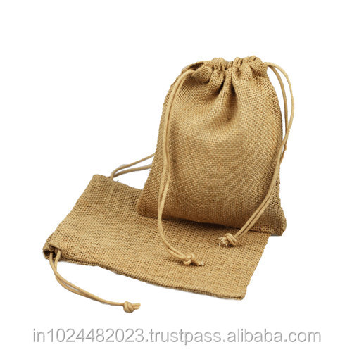 Jute and Coton Cloth Drawstring Bag Wholesale