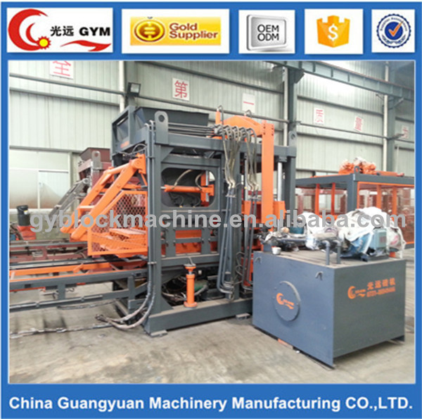 GYM-QTY8-15 Automatic and solid, interlock, paving and curbstone block, hollow Type hollow block making machine