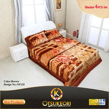 Home Textile-100% polyester india hotel quites bedding set