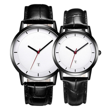 2018 Fashion Custom Dial Genuine Leather Strap Women Casual Watch Wrist Watch men