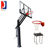Wholesale height adjustable steel basketball pole,basketball hoop stand with rim and net basketball goal