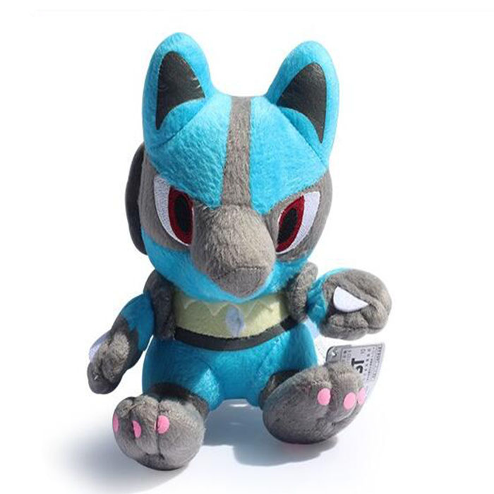 High quality Pokemon stuffing for stuffed animals Lucario Plush Dolls Toys For Children