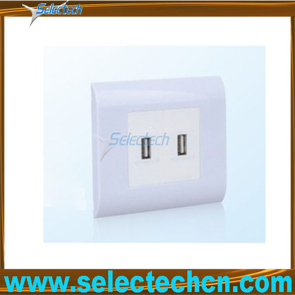 8081044+2*8081100+2*USB-08 New design A type USB charger socket with double Port