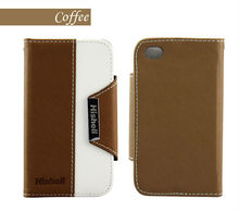 Luxury Cell Phone Leather Case For Iphone 4/4s