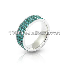 3 rows rhinestone ring Jewelry
