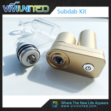 viviunited subdab kit wax vaporizer smoking device e cigarette herbal vaporizer