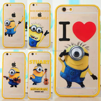 Wholesale minions cell phone case PC case for Apple iPhone 5S 5 6 6PLUS case cover