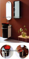 Modern wooden bathroom cabinet with wall hung mirror (FSE-GV-T10)