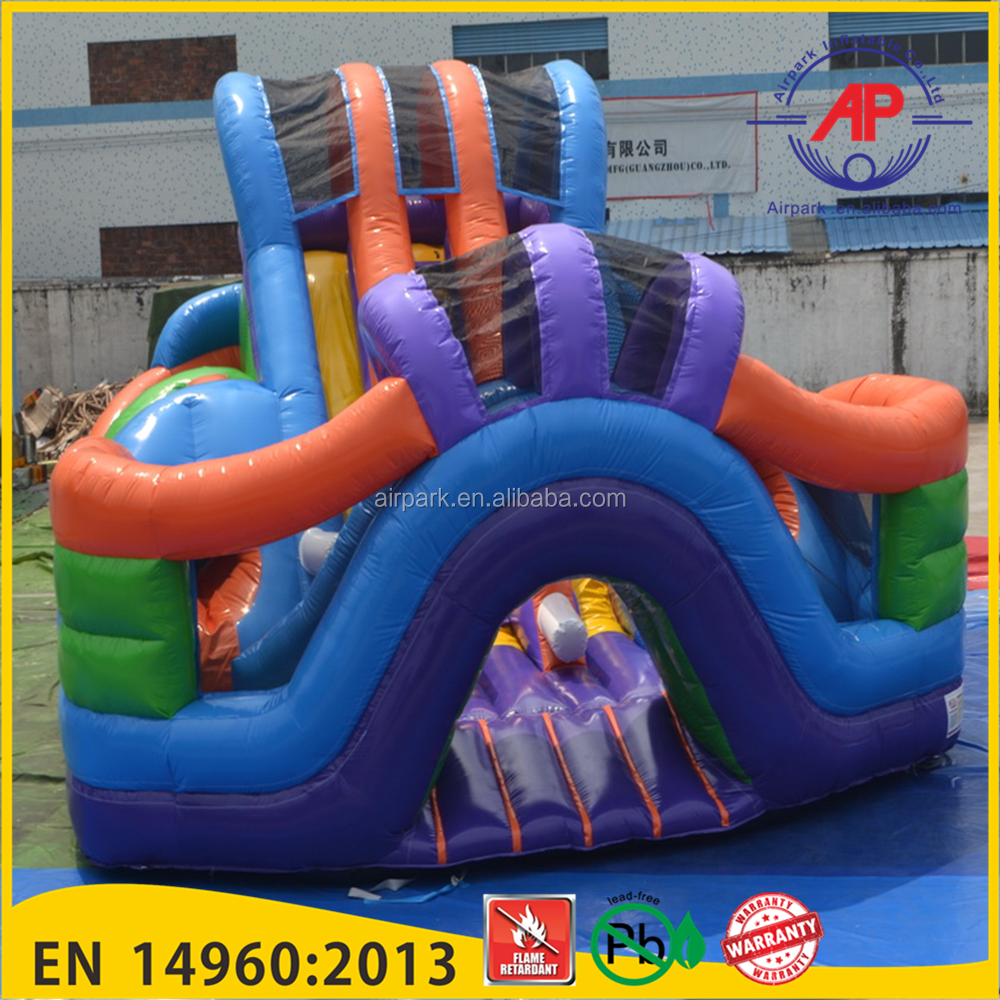 Super Lane Inflatable obstacle slide for children