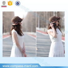 Summer Sun Short Brim Straw Fedora Hat