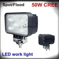 LED DRIVING LIGHT cree chips off road light heavy duty vehicle Led Work Lights 50W