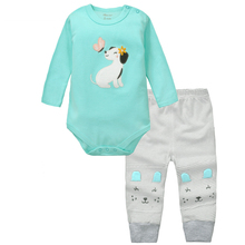 MamaLove 9M-24M Baby Boys Clothes Sets Autumn Baby suit Gentleman Boys Girls Bodysuits Clothing Sets