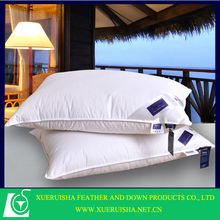 filling white duck down and comfortable pleated pillow