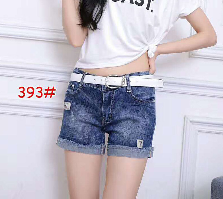 HOT SELL good quality cheap stylish fancy girls denim cuffed bottom folded jeans shorts for women denim half pants jeans #393