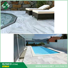 Light Grey Marble And White Marble Swimming Pool Coping Tiles
