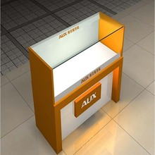 Modern glass cosmetic display showcase for makeup store exhibition furniture design