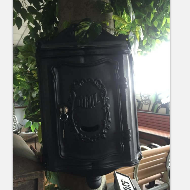 Decorative Antique Metal Letter Box, Cast Aluminum Mailbox