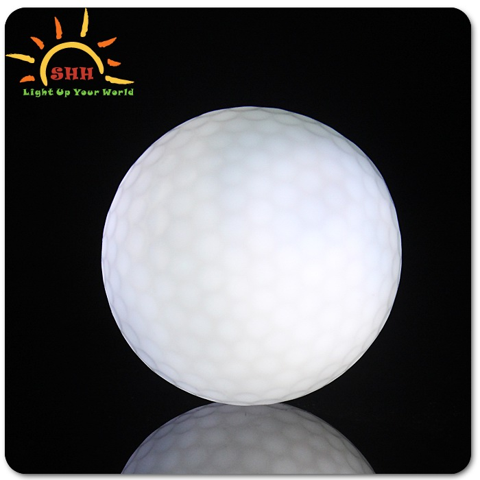Colorful Led flashing golf ball glow in the dark factory in Shenzhen,China