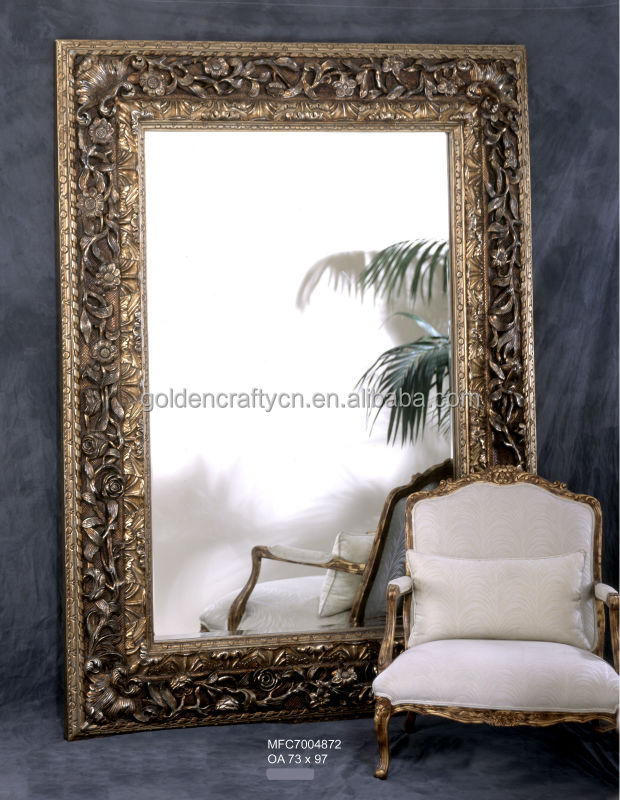 large antique floor standing mirror frame