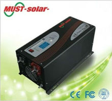 Sollar panel with pure sine wave battery charger/ Must Solar Inverter