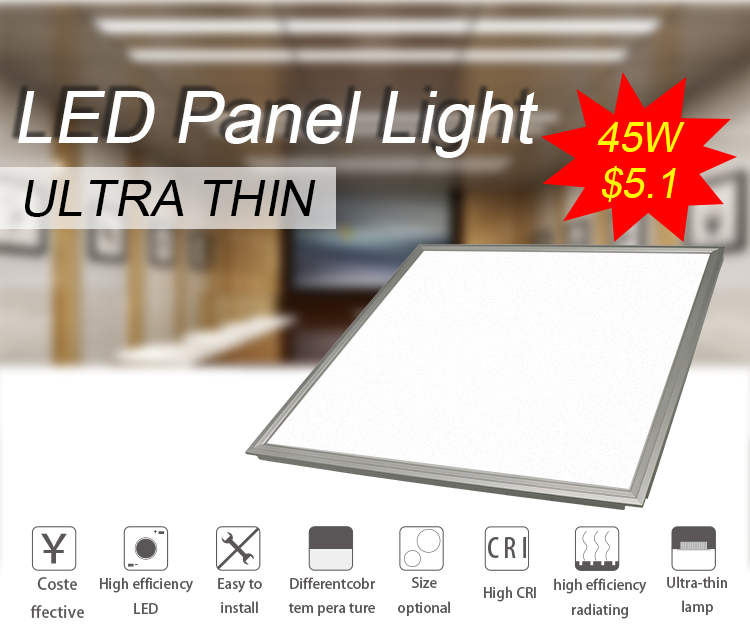 Hot sale ultra slim dimmable 600x600 45w led recessed panel light housing